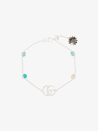 sterling silver GG topaz flower bracelet