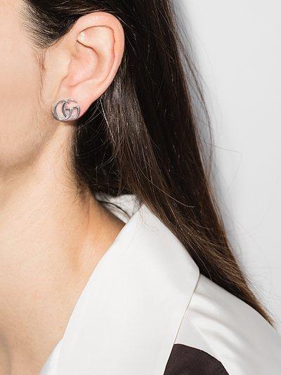 sterling silver GG topaz flower earrings