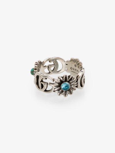 sterling silver GG topaz flower ring
