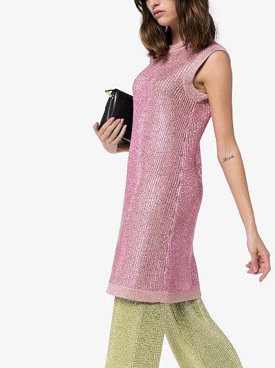 Strass crystal knit tunic dress