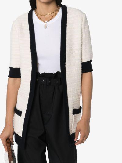 Tweed V-neck cardigan