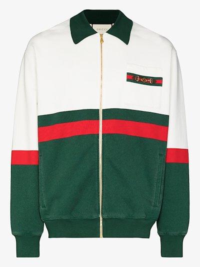 Web Stripe cotton sweatshirt