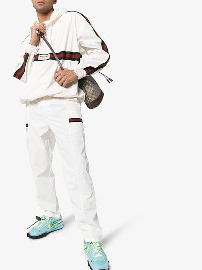 Web stripe hoodie