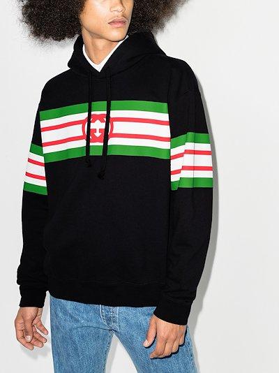Web stripe logo hoodie