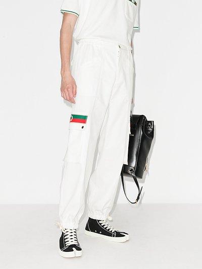 Web stripe pocket trousers