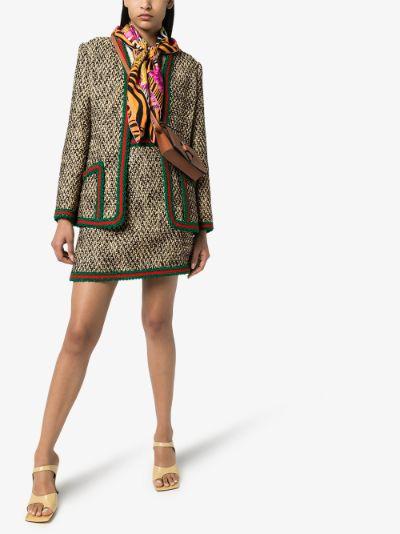 Web stripe tweed jacket