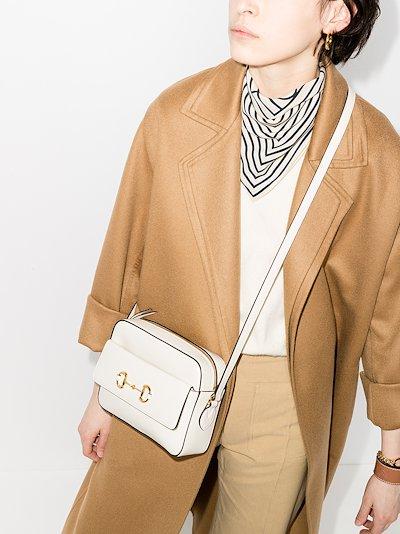 white 1955 Horsebit leather cross body bag