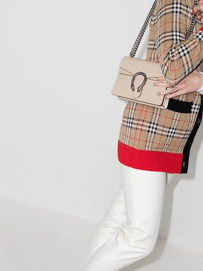 white Dionysus mini leather shoulder bag