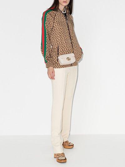 white GG Marmont leather mini bag