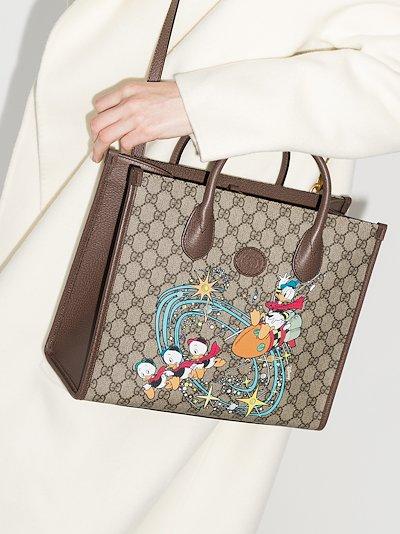 X Disney brown Donald Duck GG Supreme tote bag