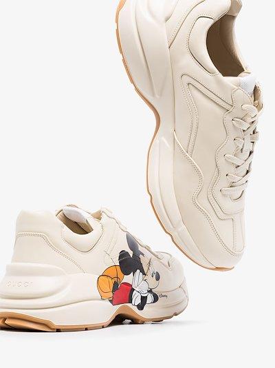 X Disney white Rhyton Mickey Mouse sneakers