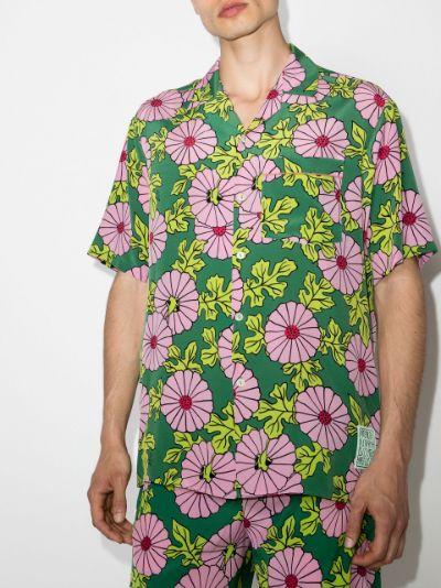 X Ken Scott floral print silk shirt