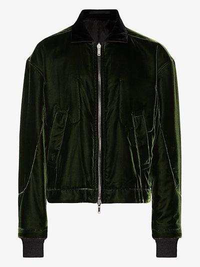 reversible velvet bomber jacket