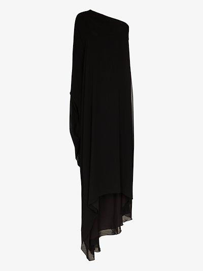 Asymmetric kaftan gown