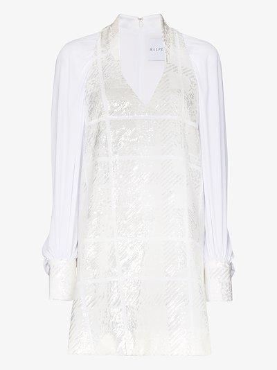 sequinned shift dress