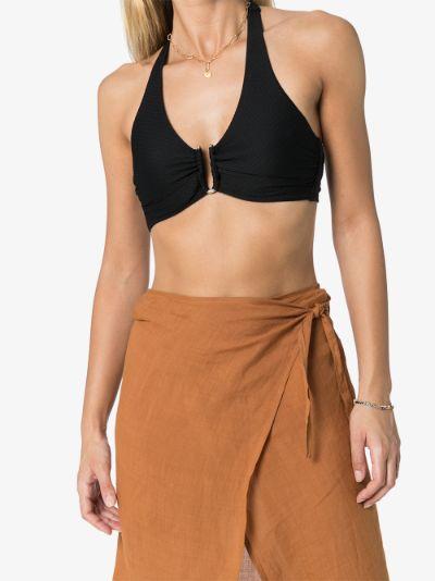 black Core halterneck ring bikini top