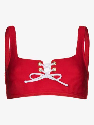 Tie-front bikini top