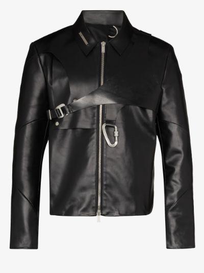 layered leather jacket