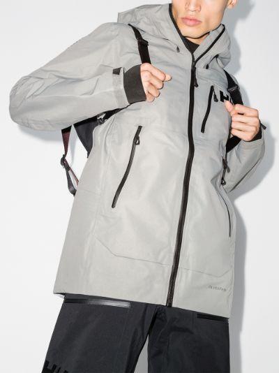 grey Odin Mountain Infinity hooded shell jacket
