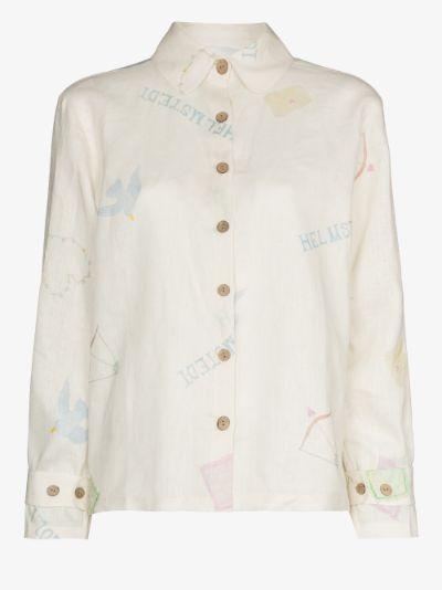 Mita printed linen shirt