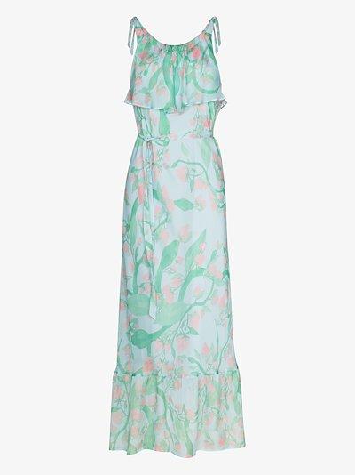 Strawberry print flared dress