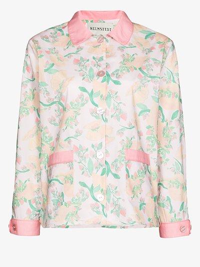 strawberry print pyjama shirt