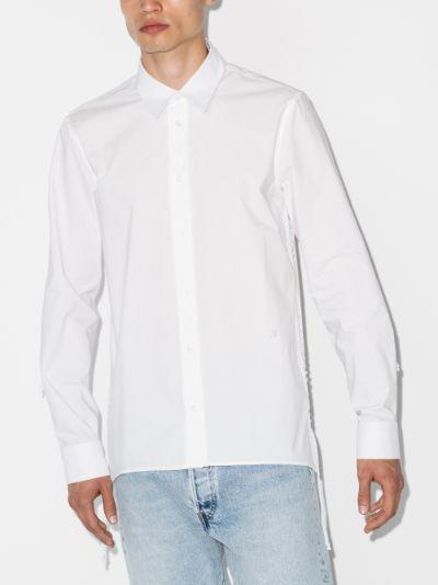 lace-up cotton shirt