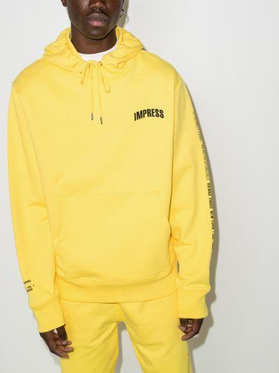 slogan print hoodie