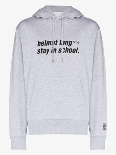 Stay In School Print Hoodie