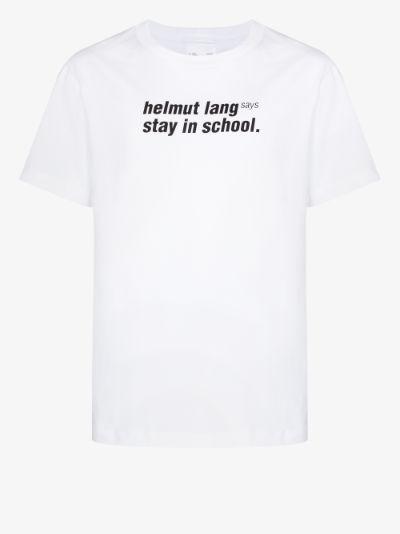 Stay In School print T-shirt