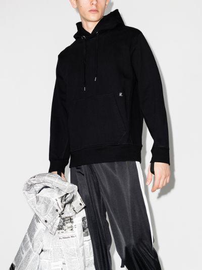 strap detail hoodie