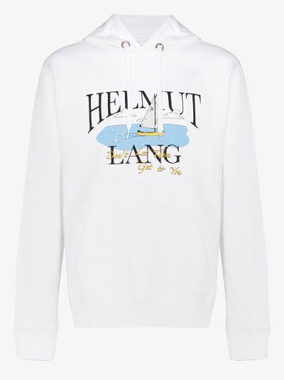 X Saintwoods Ocean logo print cotton hoodie