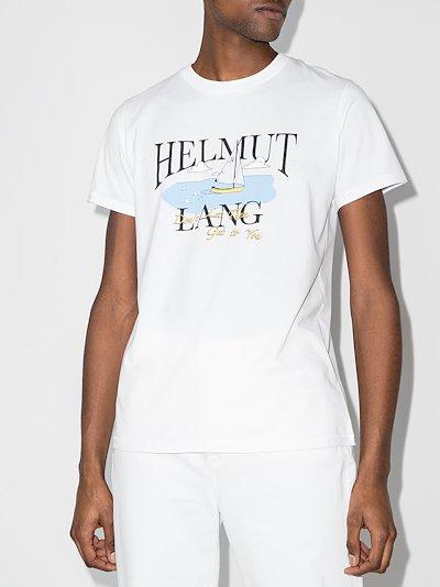 X Saintwoods ocean print T-shirt