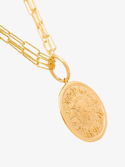 gold-plated Achilles triple chain pendant necklace