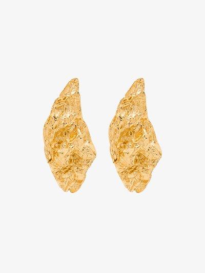 gold-plated Melies Nebula asymmetric earrings