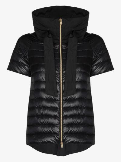 short sleeve down puffer jacket