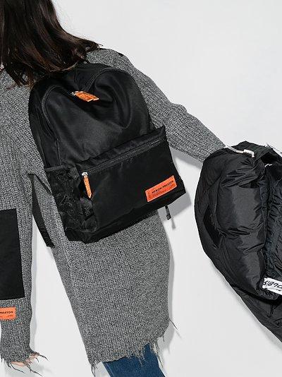 Black Fanny logo backpack