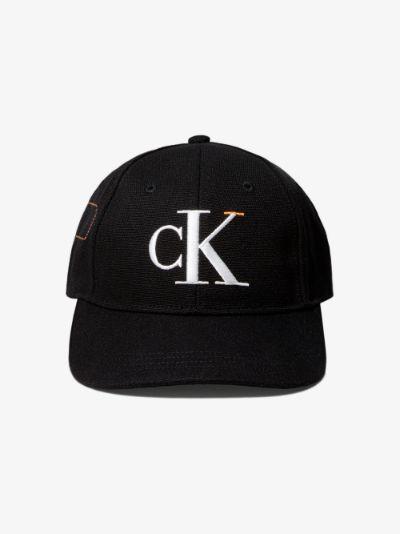 black logo embroidered baseball cap