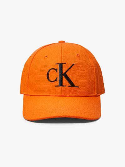 orange logo embroidered baseball cap
