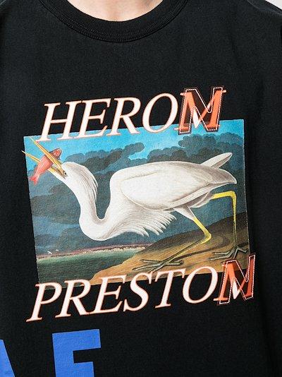 Heron print cotton T-shirt