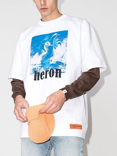 herons print T-shirt