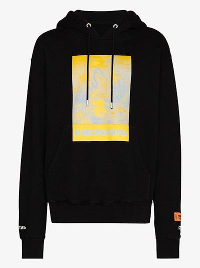 Litho cotton hoodie