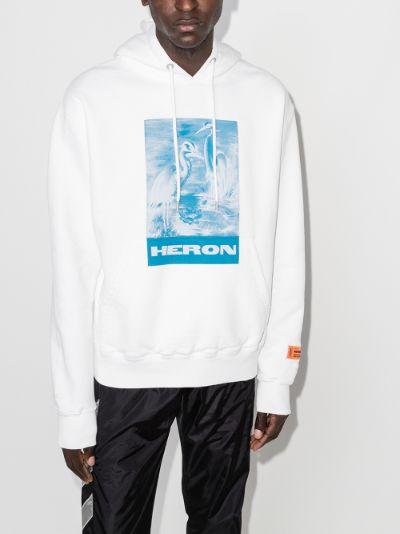 logo print cotton hoodie