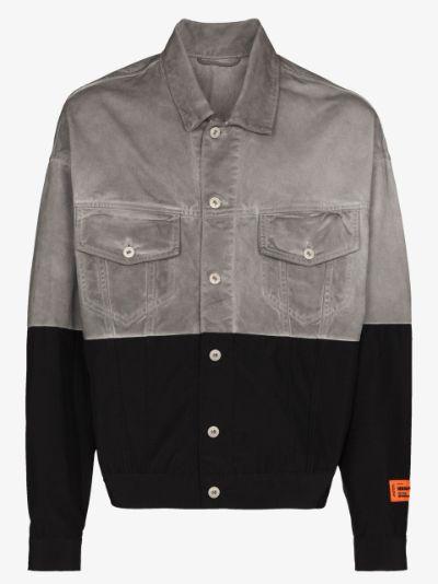 panelled trucker jacket