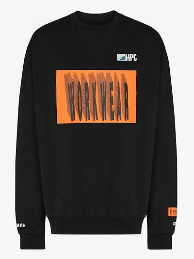 Workwear print sweatshirt