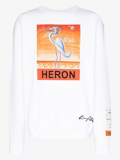 X Kenny Scharf heron print sweatshirt