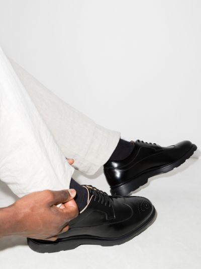 Hogan black H304 leather Derby shoes | Browns