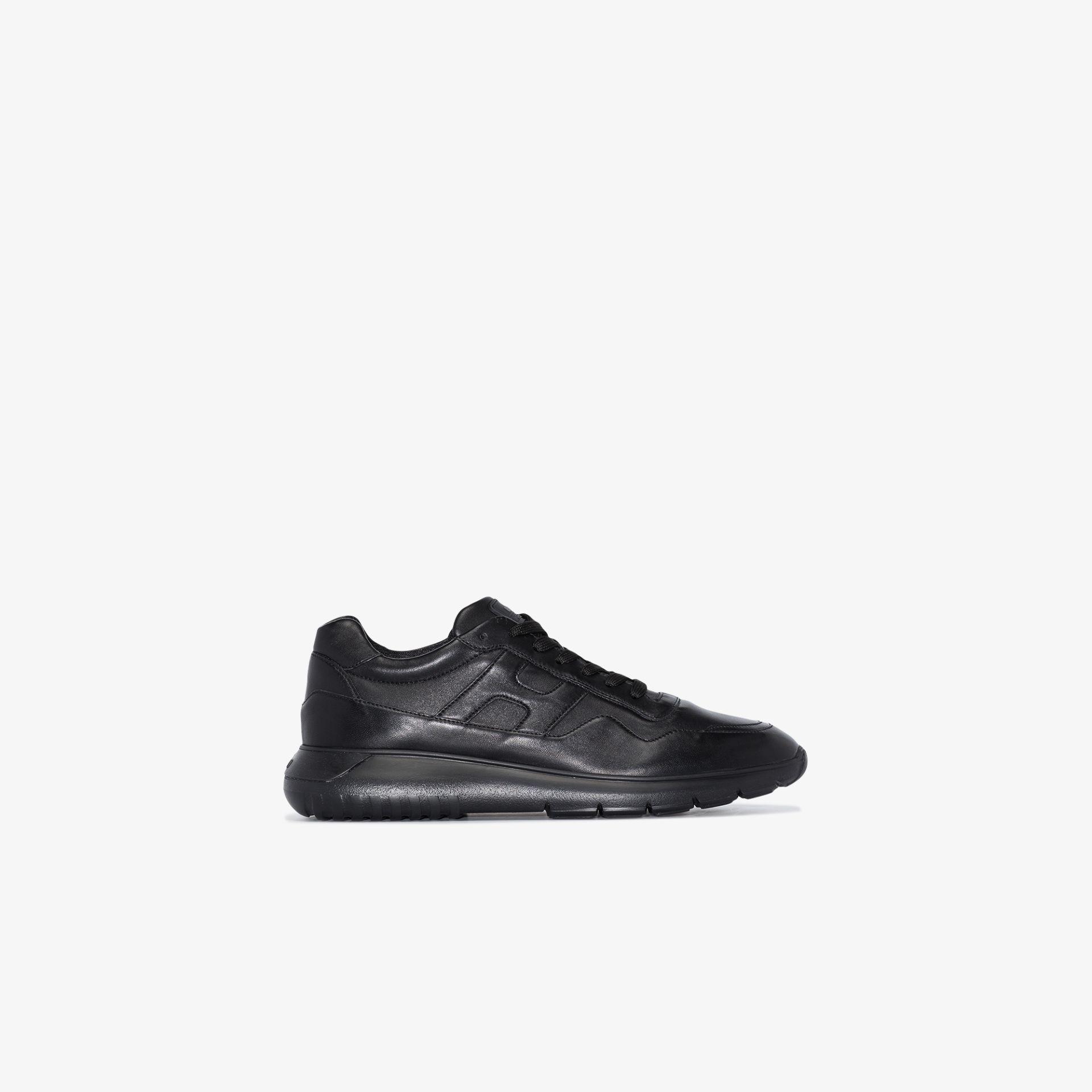 Black Interactive3 Allacciato pelle sneakers