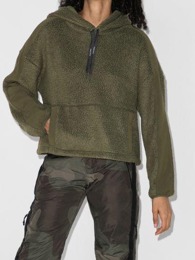 cropped sherpa hoodie