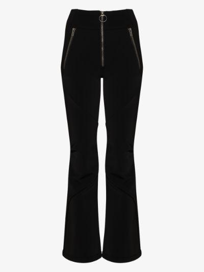 high waist shell trousers